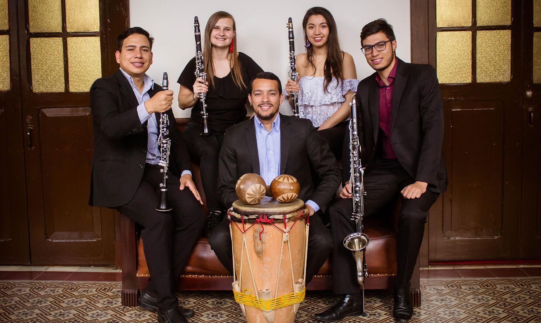 Cámara Colombia - CañaBrava, Cuarteto de Clarinetes y Percusión