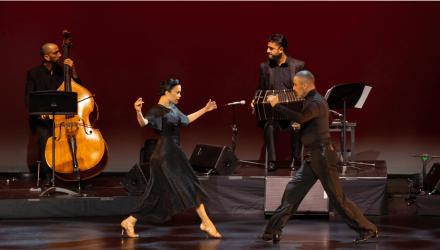 El baile en el distanciamiento de Iván Ovalle y Gina Medina