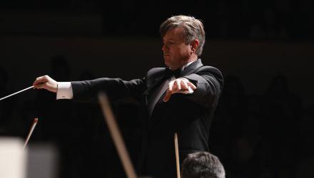 La Orquesta Filarmónica de Bogotá celebra el cumpleaños Bogotá en el Teatro Mayor. Director Titular: Joachim Gustafsson, Suecia